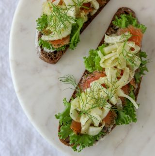 Smoked Salmon Smørrebrød with Fennel Salad
