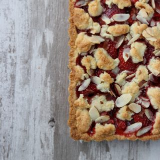 Finnish Strawberry Almond Tart