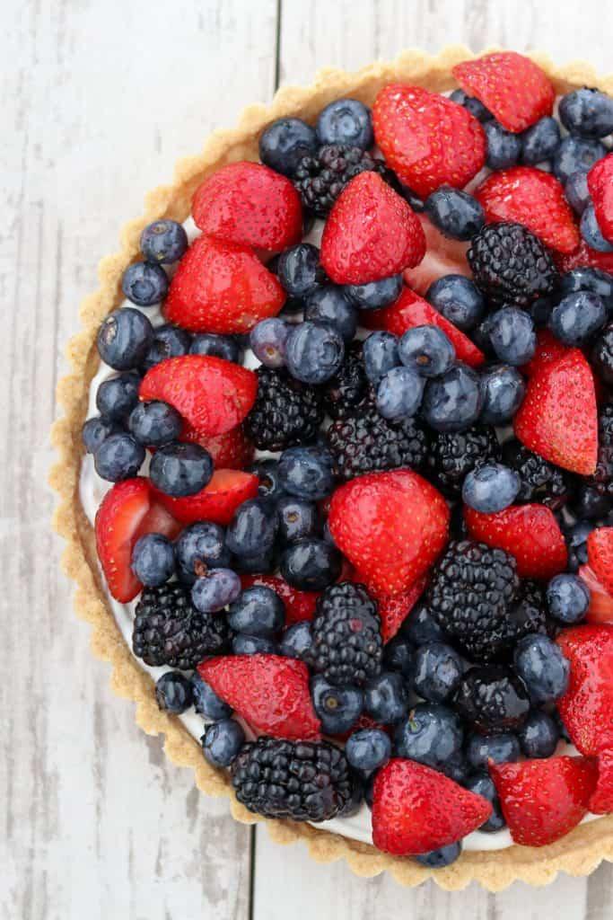Summer Skyr Tart with Fresh Berries