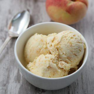 Roasted Peach Ginger Ice Cream