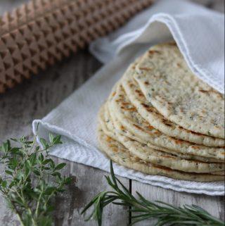 Soft Nordic Flatbreads with Garden Herbs