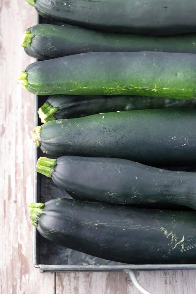 zucchini in a tray