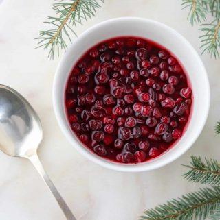 Stirred Lingonberries