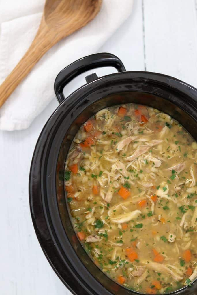 Cozy Slow Cooker Chicken and Barley Soup