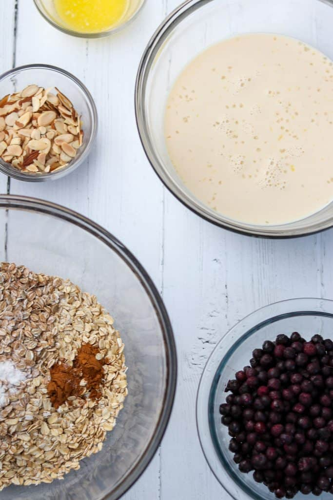 Baked Nordic Oat and Rye Porridge ingredients