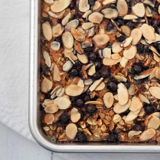 Baked Nordic Oat and Rye Porridge in the pan