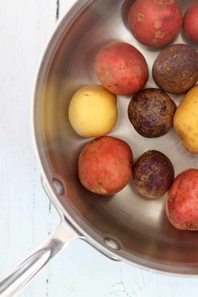 Potatoes in a saucepan