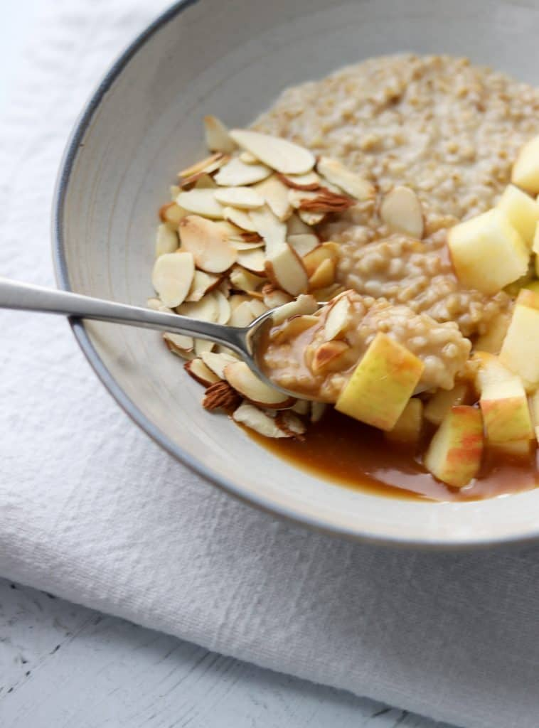 Salted Caramel Apple Oat Porridge