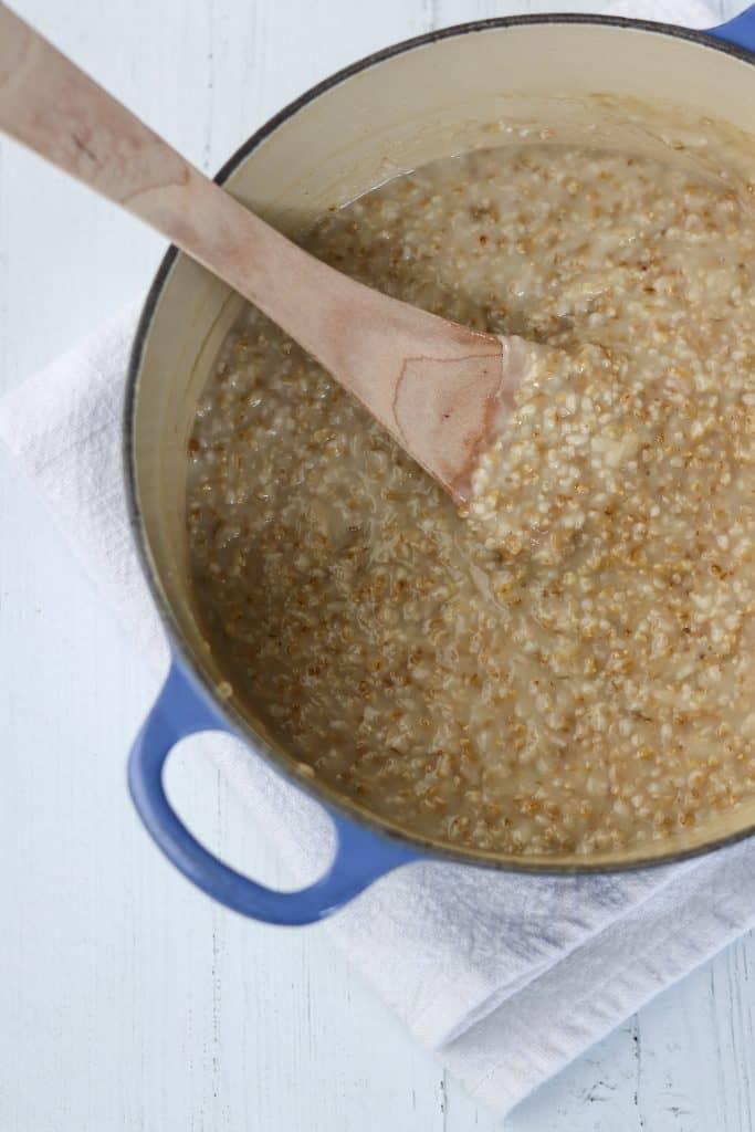 Salted Caramel Apple Oat Porridge