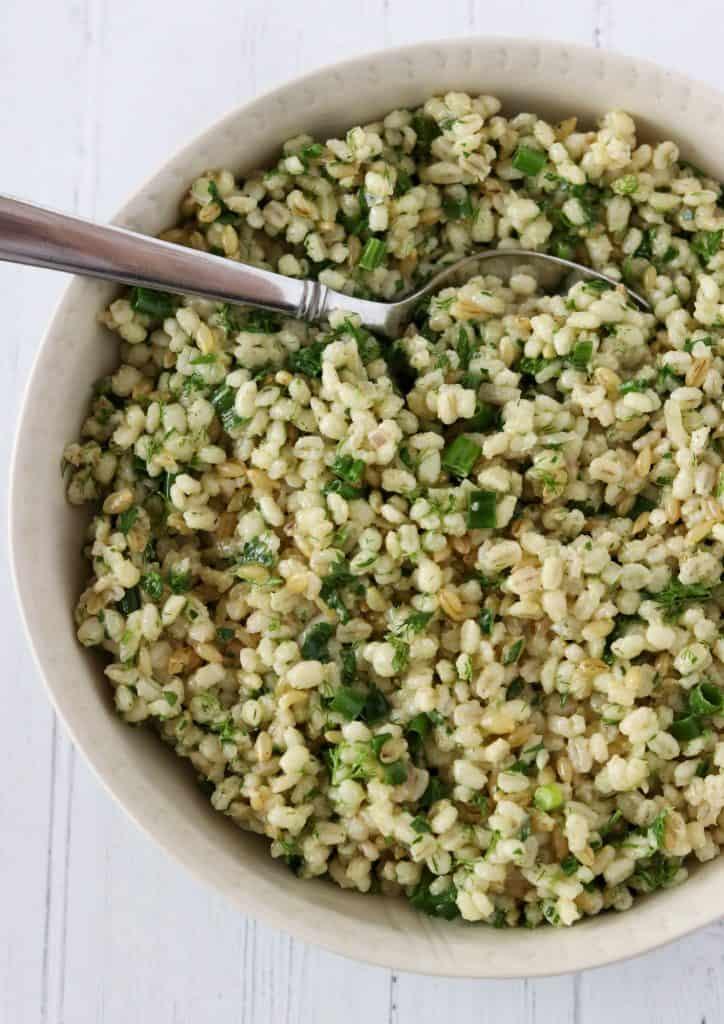 Warm Barley Salad with Garden Fresh Herbs