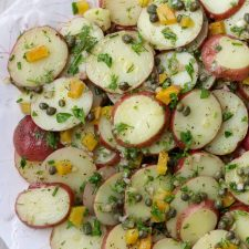 Potato salad on a platter
