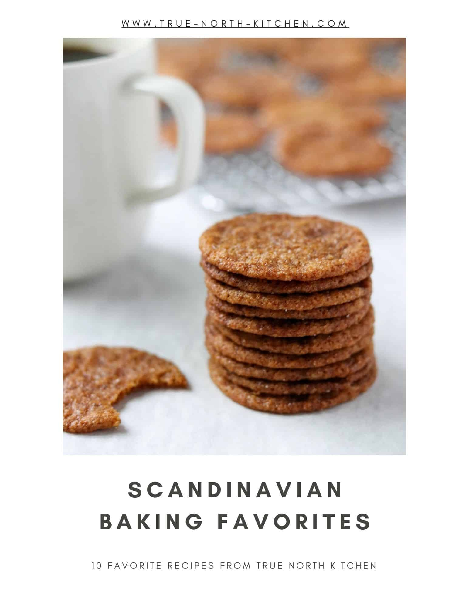 The cover for Scandinavian Baking Favorites e-book