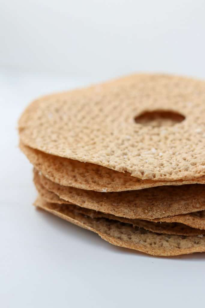 A stack of crispbread