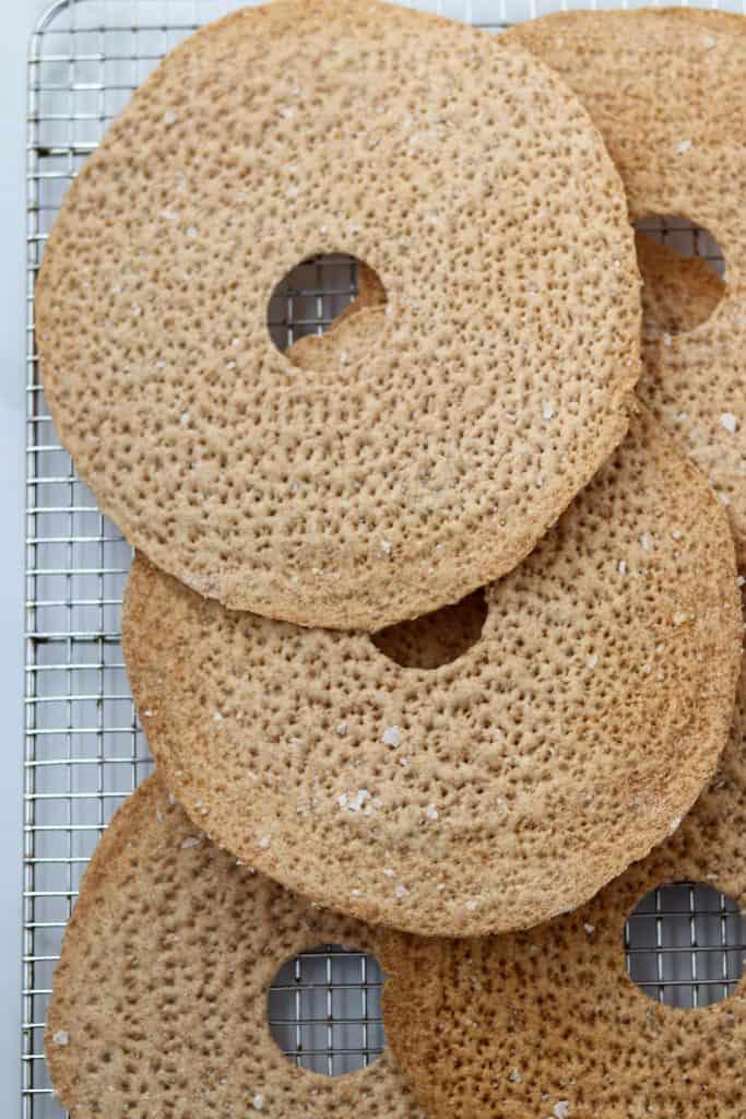 Crispbread on a cooling rack