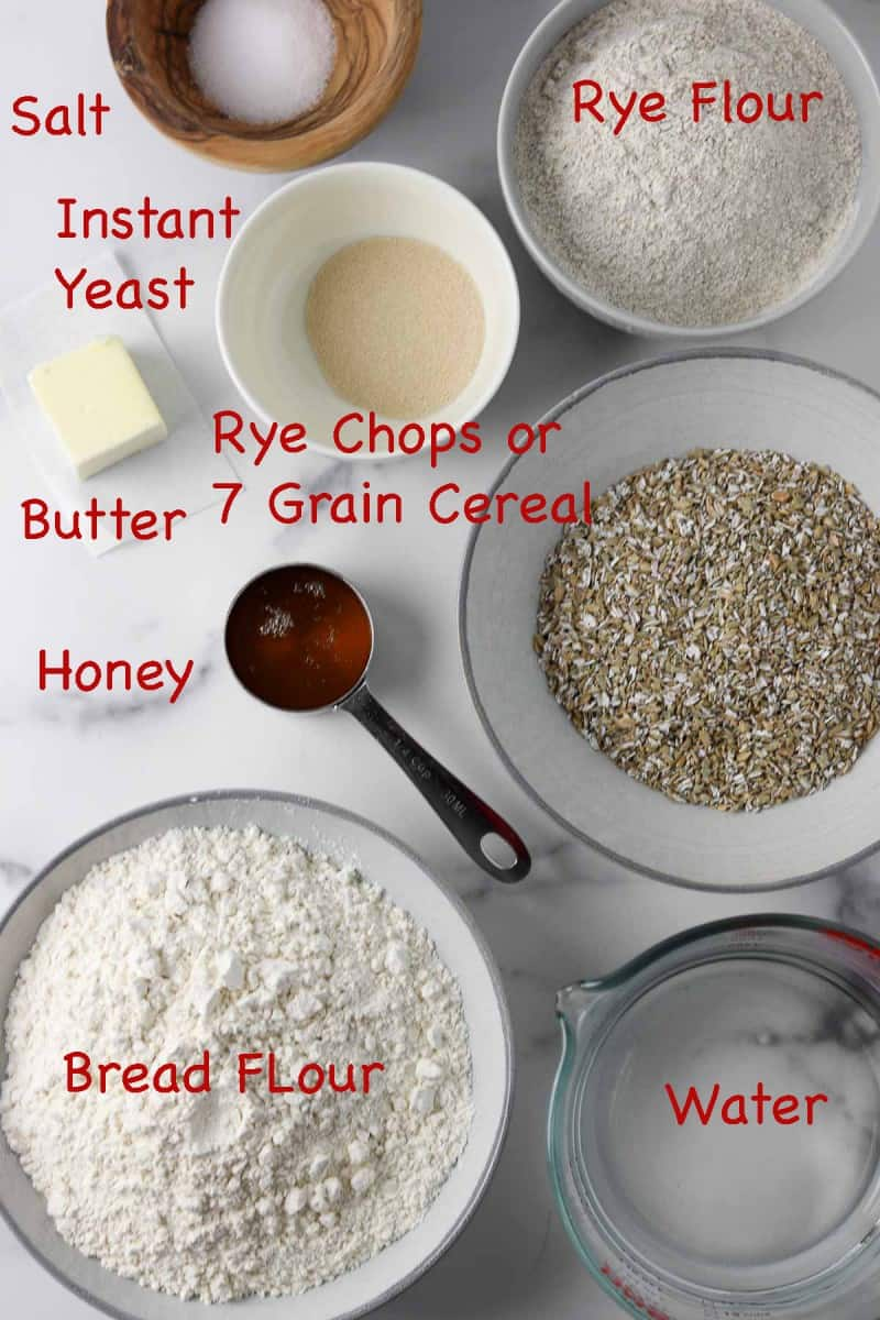 Ingredients for Easy Finnish Rye Bread RIngs