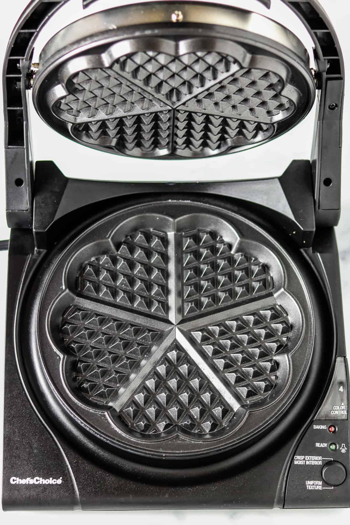 Heart shaped waffle maker.
